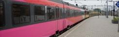 Met de trein naar Brussel